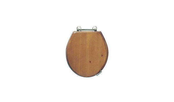 Oval solid wood toilet seat